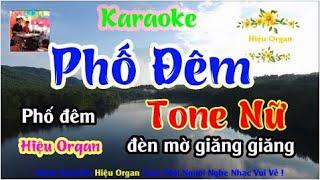 Karaoke 7979 Phố Đêm Nhạc Sống Tone Nữ || Hiệu Organ Guitar 7979