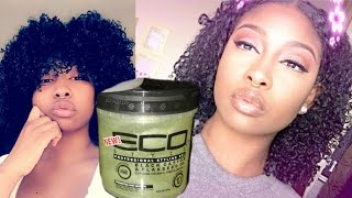 Updated Wash 'n Go | THIS NEW ECOSTYLER BLACK CASTOR & FLAXSEED OIL GEL IS THE GOAT