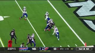Deshaun Watson scores a touchdown on a 20 yards run Texans vs Bills