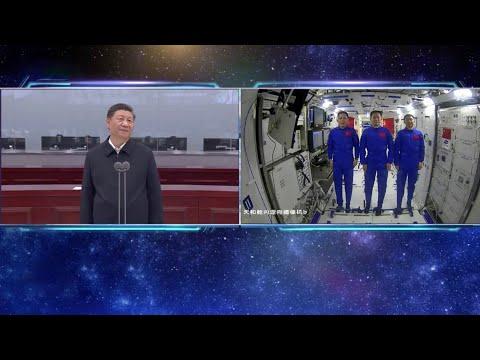 CGTN: charla de los astronautas chinos con la Tierra desde el espacio