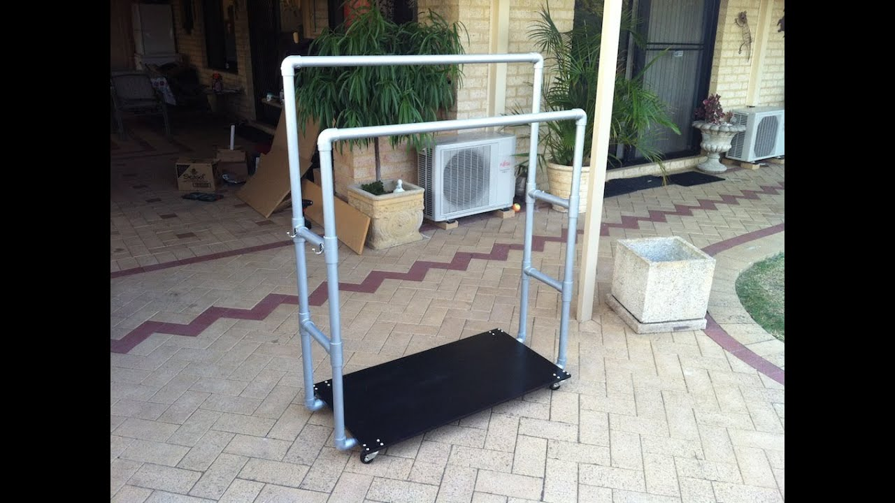 How To Pvc Pipe Clothes Rack Youtube