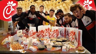 ENTIRE Chick-Fil-A MENU Eating Challenge Under 10 MIN w/2HYPE!