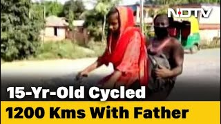 Bihar girl cycles 1,200 Km home with injured father as pil..