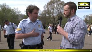 Adam verbally body slams, chokes out cops at White House #KOKESHED