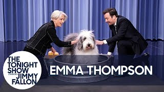 "Emma Thompson and Jimmy Wash a Sheepdog and ""It's F-ing Glorious"""