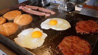 치즈 베이컨 버거 / cheese bacon hamburger / korean street food