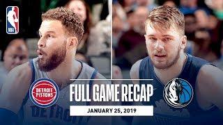 Full Game Recap: Pistons vs Mavericks | Luka Stuffs The Stat Sheet