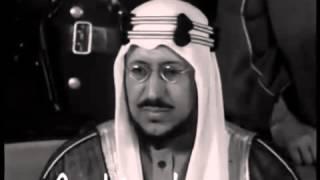 الملك سعود بن عبدالعزيز مقابلة نادرة جدا     -