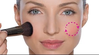 DO NOT APPLY BLUSHER TO THE APPLES OF THE CHEEKS!!!!