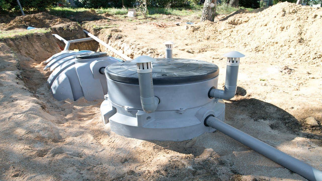 l 39 installation d 39 une microstation de traitement des eaux us es youtube. Black Bedroom Furniture Sets. Home Design Ideas