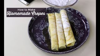 How to Make Crepes ~ Basic French Crepes ~ Amy Learns to Cook