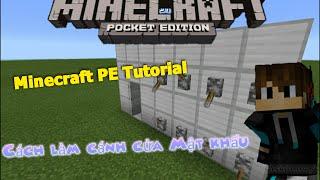 Minecraft PE tutorial: Cách là cánh cửa mật khẩu