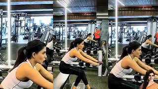 Actress Samantha doing hard workouts at the Gym..