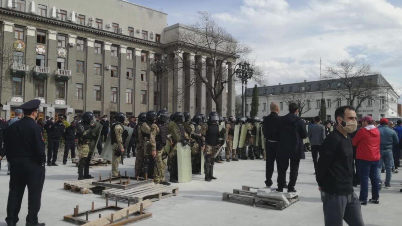 Владикавказ: силовики разогнали недовольных карантином