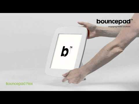 iPad kiosk desk mount - the Bouncepad Flex
