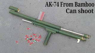 How to make a AK-74 GUN Using Bamboo || How to make a bamboo gun