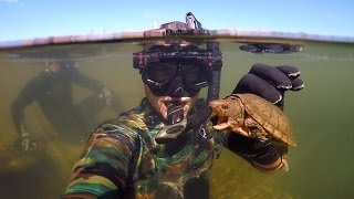 Found Knife, Razor Blade and $50 Swimbait Underwater in River! (Freediving) | DALLMYD