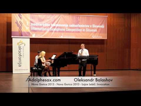Oleksandr Balashov Nova Gorica 2013 Nova Gorica 2013 Lojze Lebič Invocation