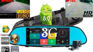 Новинка 2017г!!! 3G Android 5.0 зеркало GPS Анитрадар 2 камеры запись