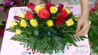 Hướng dẫn cắm chậu hoa hồng để bàn đơn giản, dễ thực hiện - THUY TIEN FLOWER