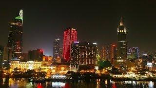 Ho Chi Minh City At Night 2018 | Toàn cảnh Sài Gòn về đêm nhìn từ flycam