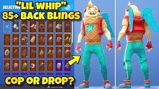 """NEW """"LIL WHIP"""" SKIN Showcased With 85+ BACK BLINGS! Fortnite Battle Royale (BEST LIL WHIP COMBOS)"""