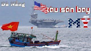 CẬN CẢNH BÊN TRONG TÀU SÂN BAY USS Carl Vinson ĐẬU NGOÀI BIỂN ĐÀ NẴNG VIỆT NAM