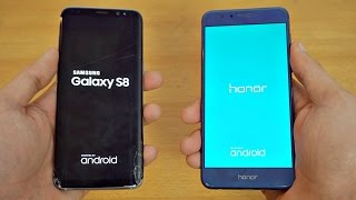 Samsung Galaxy S8 vs Honor 8 - Speed Test! (4K)