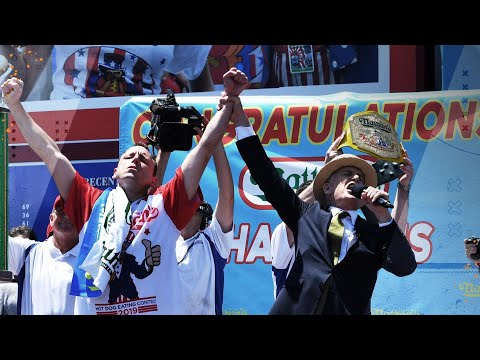 Joey Chestnut aims to break 74 hot dog record