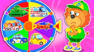 Lion family 🎡 Kids story about Magic wheel | Cartoon for Kids