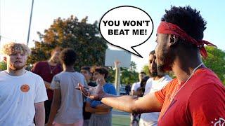 Trash Talker Calls Me Out Then Gets EXPOSED! 1v1 Basketball!