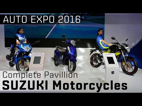 Suzuki Motorcycles at 2016 Auto Expo: Video
