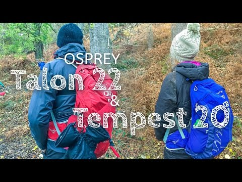video The Osprey Talon and Tempest: 2 Fantastic Daysacks for Getting Out With Your Kids