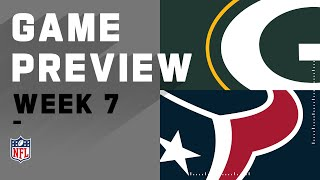 Green Bay Packers vs. Houston Texans | NFL Week 7 Game Preview