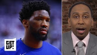 Joel Embiid failing to be a 'man amongst boys' hurts his all-time great case - Stephen A. | Get Up!