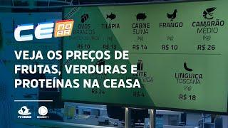 Veja os preços de frutas, verduras e proteínas na Ceasa