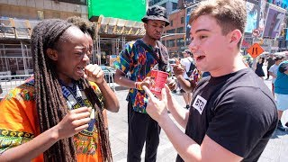 Letting NYC Strangers Try 2X SPICY FIRE NOODLES 🔥🔥🔥