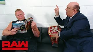 Paul Heyman pleads with Brock Lesnar to go to the ring: Raw, July 30, 2018