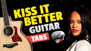 Rihanna - Kiss It Better. Fingerstyle Guitar Cover. FREE Guitar Tabs