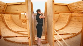 🔴Couple Builds Wooden YACHT in Backyard. 5-years Timelapse
