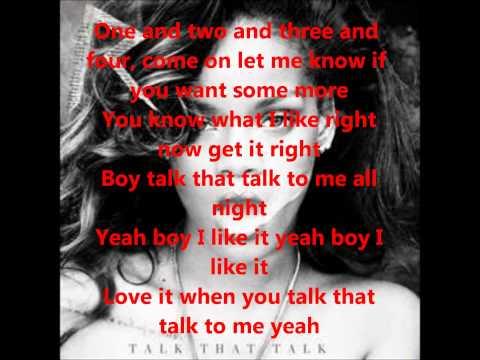 Rhianna ft Jay Z Talk that Talk lyrics