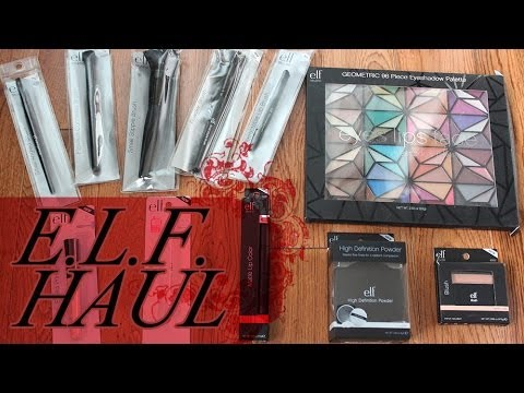 Annual E.l.f. Makeup Haul (1st Makeup Haul Video!?) - Smashpipe Style