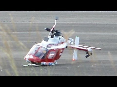 RC Helicopter CRASH !!! Big Scale Bell 206 Jetranger , Modellflieger Show Gatow 2014 *HD*