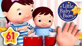 Finger Family | Baby Version | Plus More Nursery Rhymes | 61 Minutes Compilation from LittleBabyBum! - YouTube