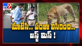 Leopard attacks bikers on Tirumala ghat road..