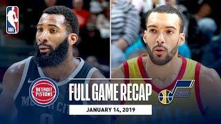 Full Game Recap: Pistons vs Jazz | Rudy Gobert Grabs A Career-High 25 Rebounds