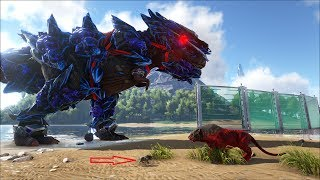 ARK SURVIVAL EVOLVED: Super Boss T-rex và baby Sabertooth dễ thương