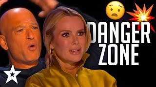 When JUDGES Join In DANGEROUS Auditions On Got Talent! | Got Talent Global