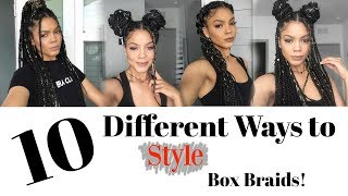 10 Ways to Style Box Braids - Quick, Easy & Trendy! - YouTube