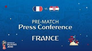 2018 FIFA World Cup Russia™ - FRA vs CRO - France Pre-Match Press Conference